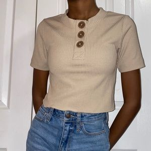 Urban Outfitters Button up crop top